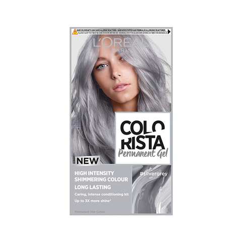 L'Oreal Colorista Silver Grey Permanent Gel Hair Dye in UK