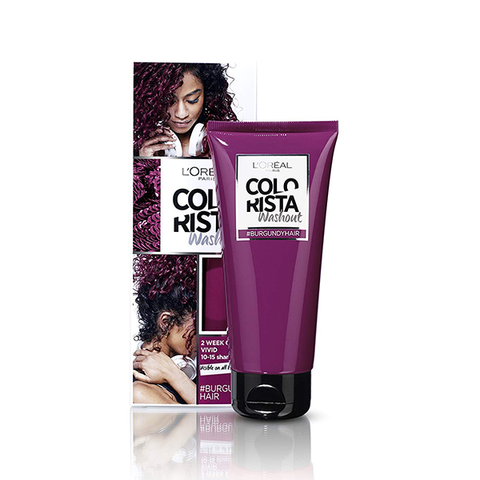 L'Oreal Colorista Washout Burgundy Semi-Permanent Hair Dye in UK