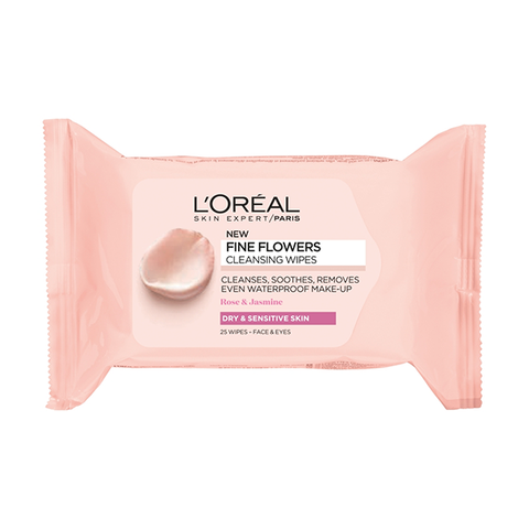 L'Oreal Paris Fine Flowers Cleansing Wipes Dry & Sensitive Skin in UK