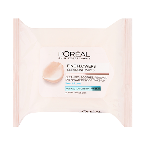 L'Oreal Paris Fine Flowers Cleansing Wipes Normal To Combination Skin in UK