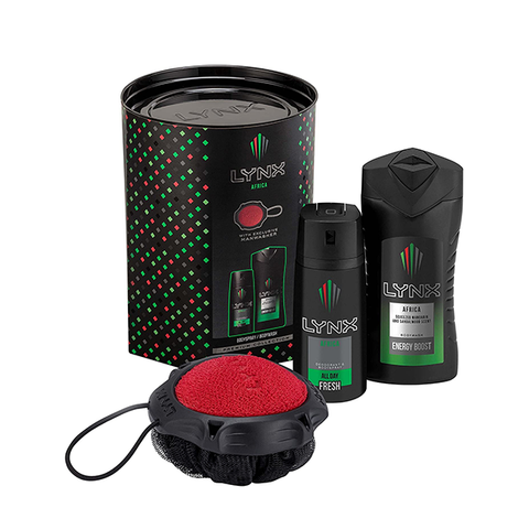 Lynx Africa Manwasher 3PC Gift Set in UK