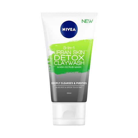 Nivea 3In1 Urban Skin Detox Clay Wash 150ml in UK
