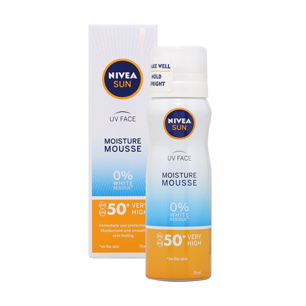 Nivea UV Face Moisture Mousse SPF50 50ml in UK