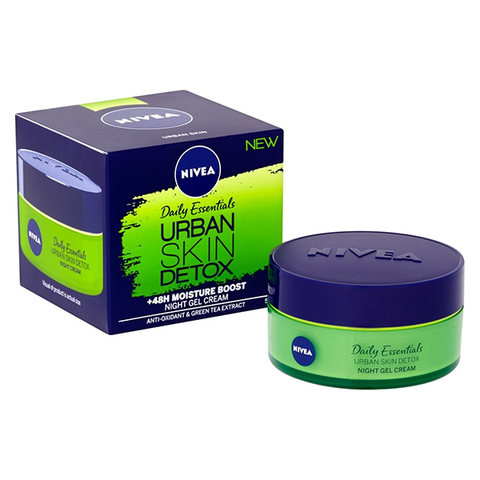 Nivea Urban Skin Detox +48H Moisture Boost Night Gel Cream 50ml in UK