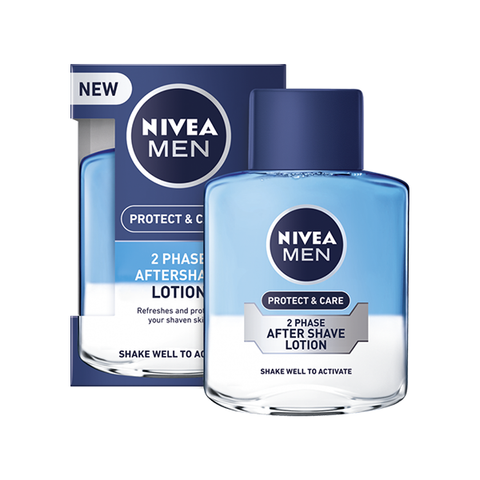 Nivea Men Protect & Care 2 Phase Aftershave Lotion 100ml in UK
