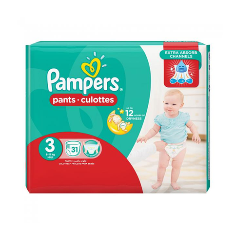 Pampers Baby Nappy Pant Size 3 31's in UK