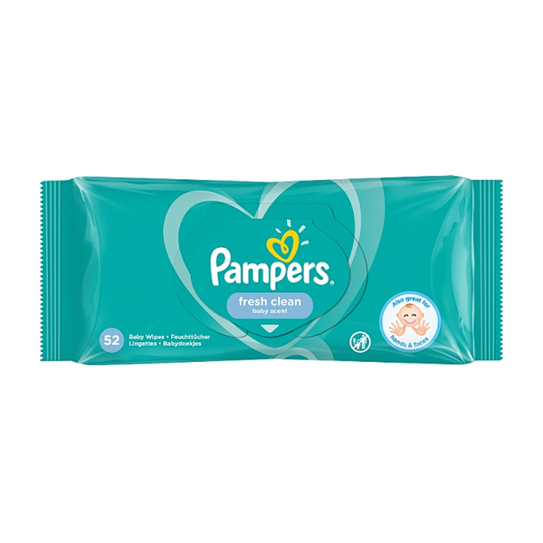Pampers Baby Wipes Fresh Clean 52's in UK