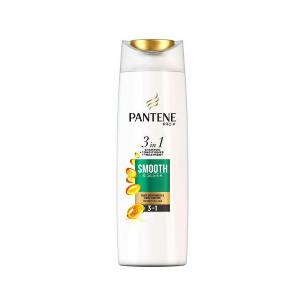 Pantene Pro-V Smooth & Sleek 3-in-1 Shampoo + Conditioner + Treatment 400ml
