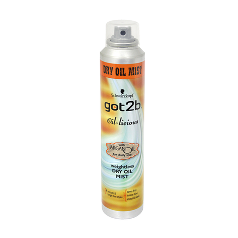 Schwarzkopf Got2b Oil-Licious Dry Oil Mist 200ml in UK