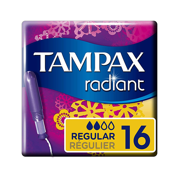Tampax Radiant Regular Stamps With Applicator 16's in UK
