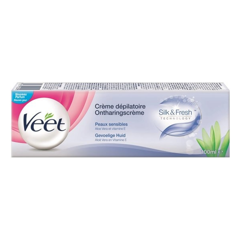 Veet Hair Removal Cream Sensitive Skin Blue 100ml in UK