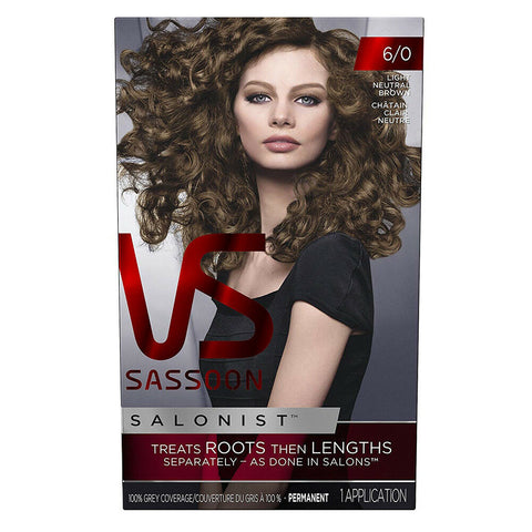 Vidal Sassoon Salonist Permanent Hair Colour 6/0 Light Neutral Brown