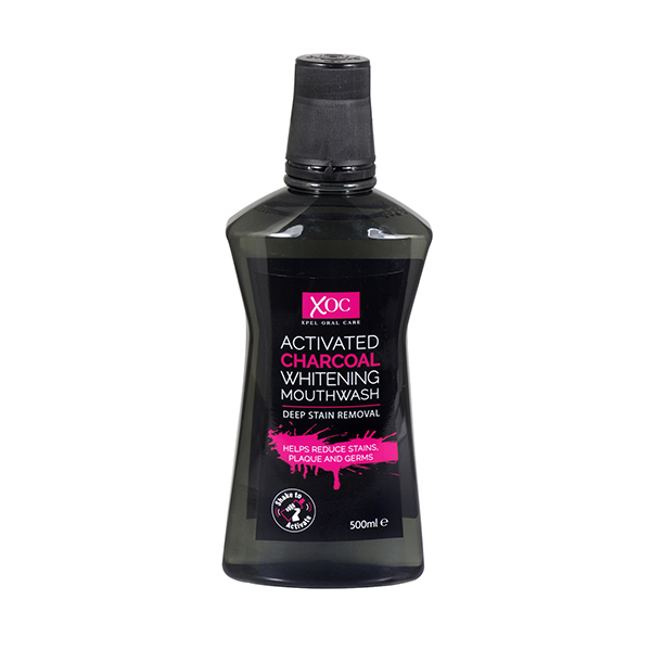 XOC Activated Charcoal Whitening Mouthwash 500ml in UK