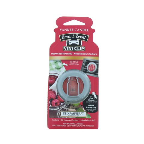 Yankee Candle Red Rosbery Scent Car Clip Air Freshener in UK