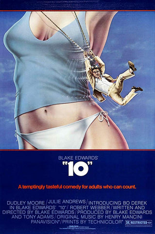 An original movie poster for the film 10 by John Alvin