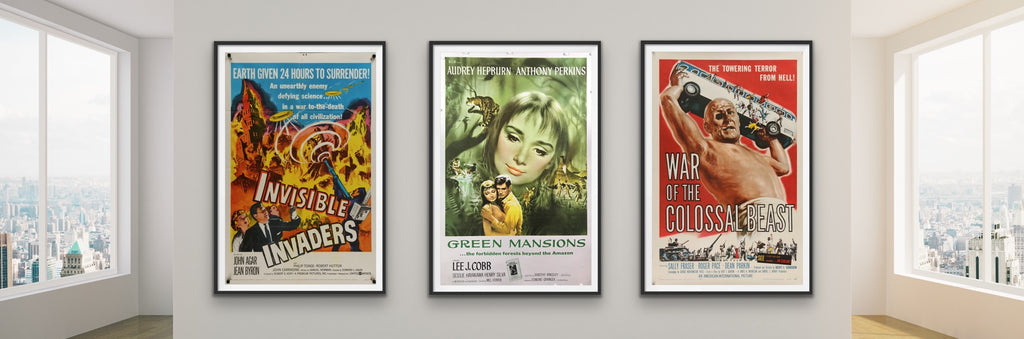 A selection of movie posters from the 1950s and before