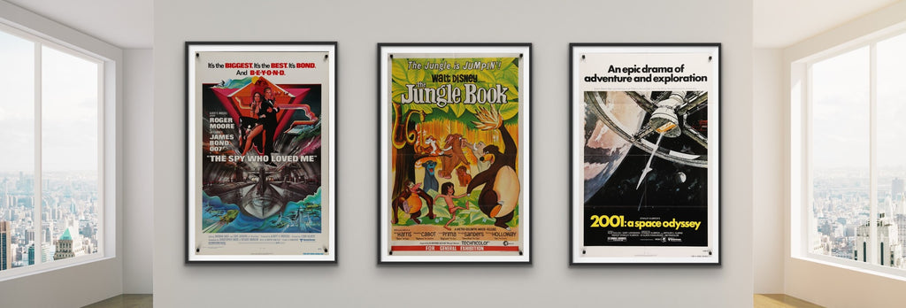 A selection of movie posters from the 1970s and 1960s