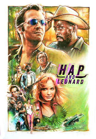 Steve Chorney artwork for the TV series Hap and Leonard