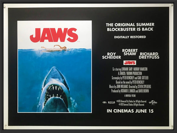 An original UK quad movie poster for Jaws
