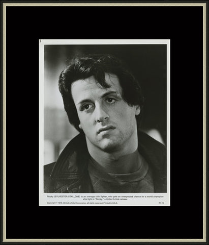 An original lobby card from the film Rocky
