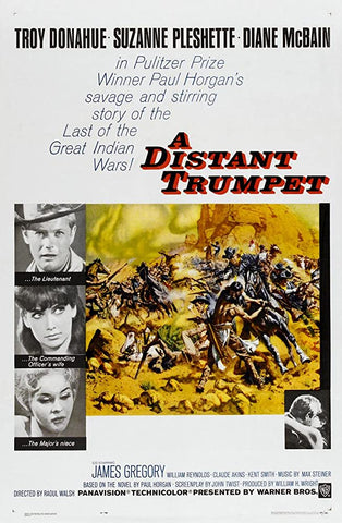 A movie poster by Frank McCarthy for the film A Distant Trumpet