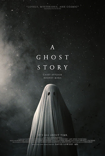 An original movie poster for the A24 film A Ghost Story
