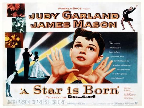 An original half sheet movie poster for the film A Star Is Born
