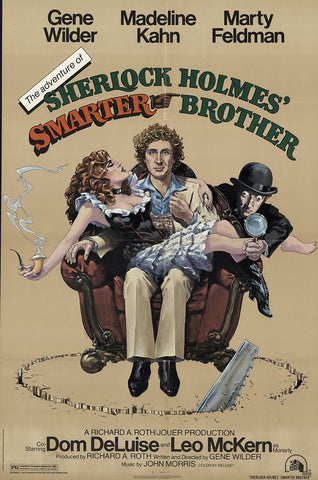 An original movie poster for The Adventure of Sherlock Holmes Smarter Brother by John Alvin