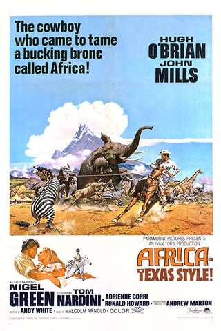 A movie poster by Frank McCarthy for the film Africa- Texas Style