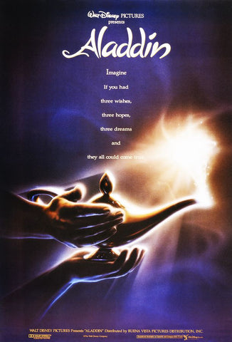 An original movie poster for Aladdin by John Alvin