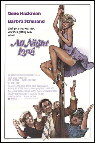 An original movie poster for the film All Night Long