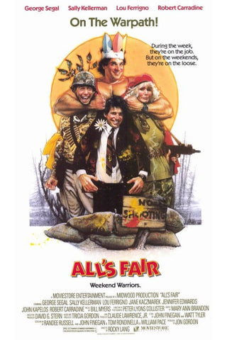 An original movie poster for the film All's Fair