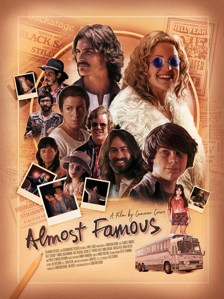 An unofficial movie poster for Almost Famous by Richard Davies