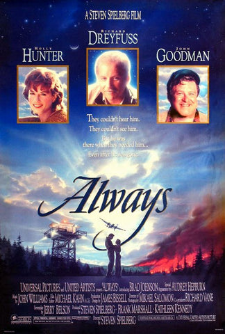 An original movie poster for the film Always by John Alvin