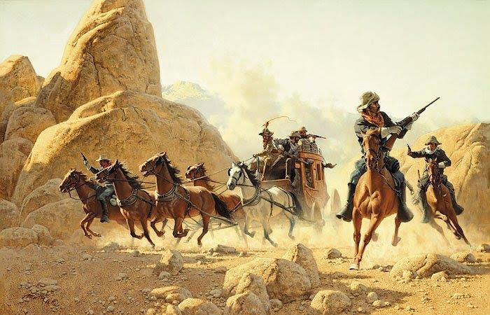 Ambush painted by Frank McCarthy and published by The Greenwich Workshop