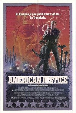 An original movie poster for the film American Justice