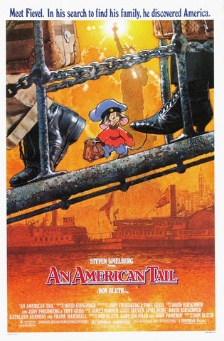 An original movie poster for the film An American Tail