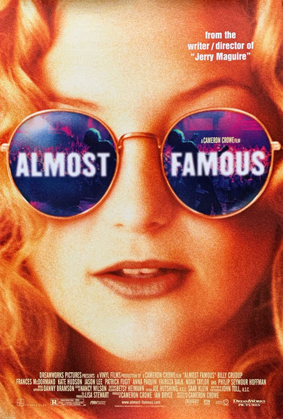 An original movie poster for the film Almost Famous