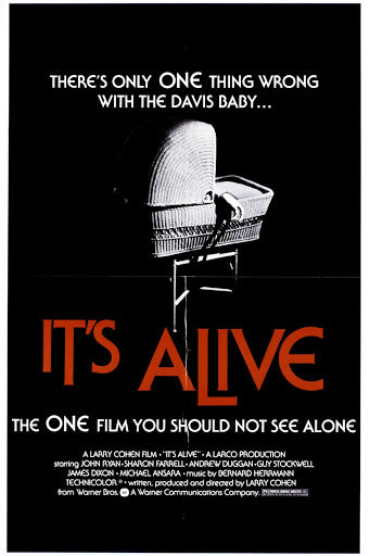 An original movie poster for the film It's Alive