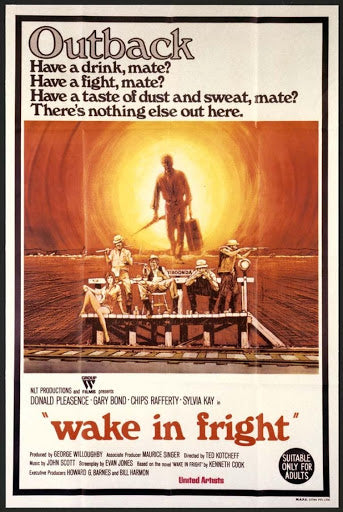 An original movie poster for the film Wake In Fright