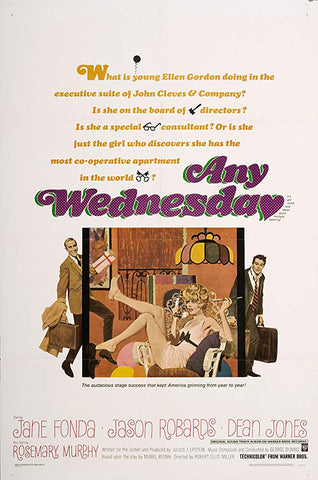 An original movie poster for the film Any Wednesday