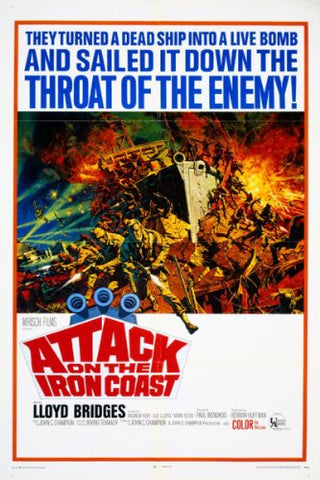 A movie poster by Frank McCarthy for the film Attack On The Iron Coast