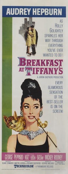 An original movie poster for the film Breakfast At Tiffany's