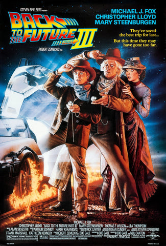 An original movie poster for the film Back to the Future III