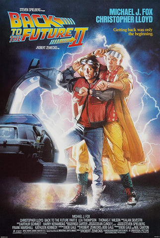 An original movie poster for the film Back to the Future II