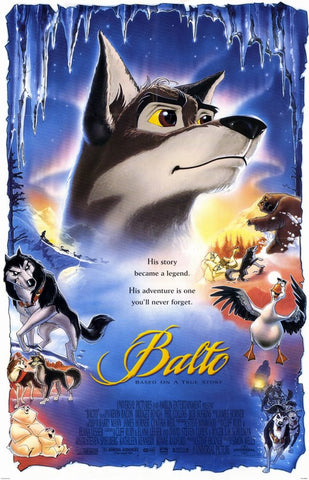 An original movie poster for the film Balto by John Alvin