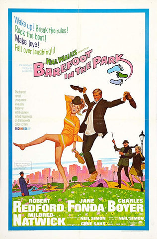 An original movie poster for the film Barefoot In The Park
