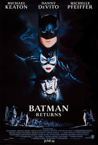 An original movie poster for the film Batman Returns by John Alvin