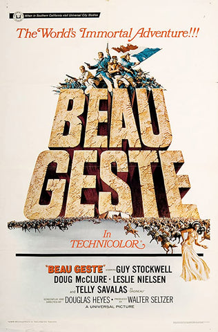 A movie poster by Frank McCarthy for the film Beau Geste