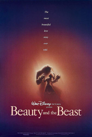 An original movie poster for the film Beauty and the Beast by John Alvin